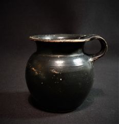 Greek black varnished earthenware olpe - high 65 mm