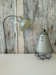 Polam Wilkasy - P-250 Lamp with Porcelain Holder + 1 x Polish Industrial Lamp