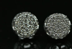 18k White Gold New Ladies Earrings with Brilliant cut Diamonds total 0.59 ct
