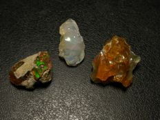 Lot of Rough gem crystal opal - 33.7ct (3)