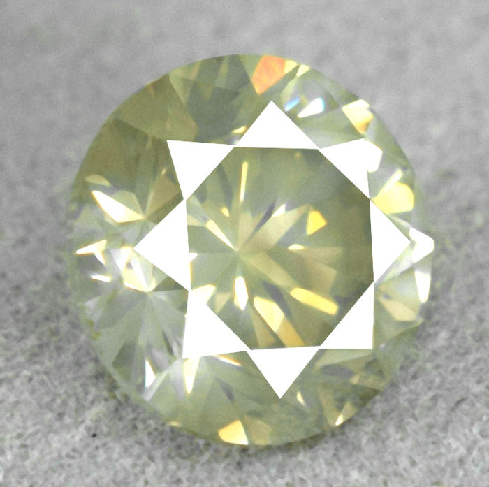 Diamond - 1.22 ct, VS2 Natural Fancy Greyish Yellow