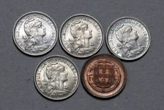 Portugal – Republic – 4 Specimens – 50 Centavos 1947 /1957 / 1963 / 1967 & 2 Centavos 1920