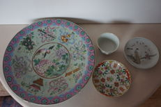 Charger , bowl  and 2 x plates - China  - 19 -  early 20th century