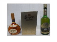 2 bottles - Nikka Rare Super Rare Old Whisky from the 90's & Suntory Custom Blended Whisky - Rare and discontinued