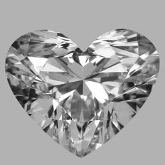 Heart Brilliant Diamond  0.50ct  E VS1  GIA  - Original image- serial# WD-2337