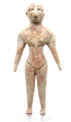 Indus Valley Terracotta Fertility Standing Bald Male Idol  / Figurine  - 137 mm