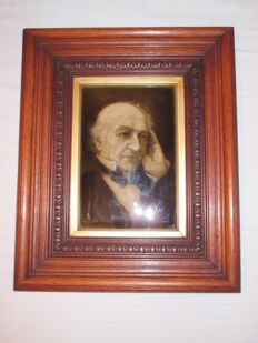 Sherwin & Cotton Tile of William Gladstone by George Cartlidge, after a photograph by Mendelssohn - 1898