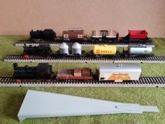 Märklin H0 - 3000/3029/3090 - 3x Tender locomotives with 8x wagons of the DB