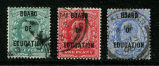 Groot-Brittannië 1902-4  - Edward VII dienstzegels set van 3 BOARD OF EDUCATION - Stanley Gibbons O83-O85