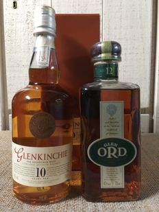 2 bottles - Glen Ord 12 years old & Glenkinchie 10 years old