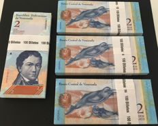Venezuela - 400 x 2 Bolivares 2012 - Pick 88- consecutive numbers and original bundles