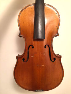 German violin, beautifully flamed one piece back
