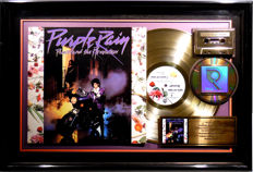 Prince - Purple Rain - US RIAA Golden Costum Music Award goldene Schallplatte - original Sales Music Record Award ( Golden Record )