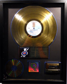 The Eagles - Eagles Greatest Hits Volume 2 - real US RIAA Gold Award goldene Schallplatte - original Sales Music Record Award ( Golden Record )