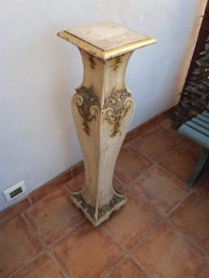 Painted wood column/stand - Regency style - Italy, early 20th century