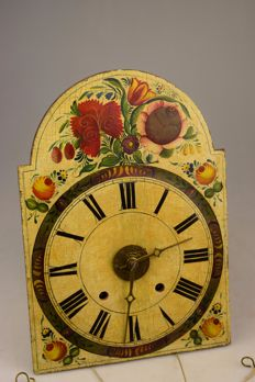 """Old wooden """"Schwarzwald"""" clock with alarm function - Germany - Early 20th century"""