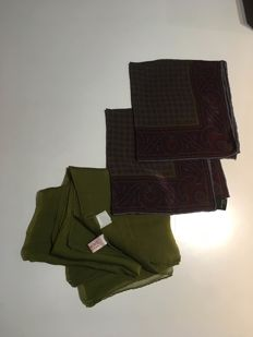 Loewe - Pack of three vintage scarves