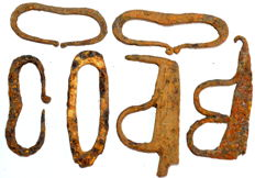 Very Fine selection of 6 medieval iron fire starters  - 62-82 mm / 175.2 grams (6)