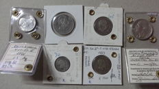 Kingdom of Italy – Lot of 6 coins 1863/1936 – Silver