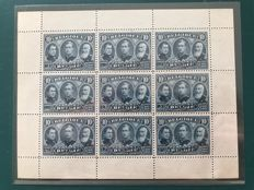 Belgium 1915 - Proof OBP 149 in sheet of 9 - Stess 2985