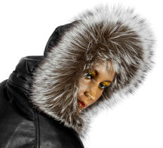 Fluffy fur rim for your hood fur collar fur strip to button silver fox fox fur