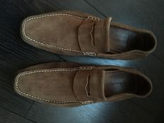 Santoni Club – Suede loafers