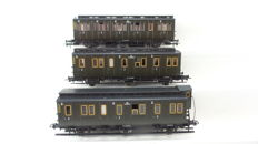 Märklin H0 - 64453/64454/64455 - Set of three axis carriages of the NS