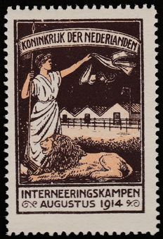The Netherlands 1916 - Internment Camp Stamp - NVPH IN2