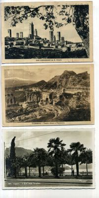 Italy, City and village views from the period 1900-1950; 114x