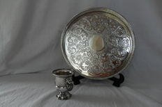Serving tray - Spoon vase - Sheffield - England