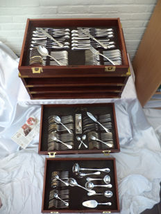 Cutlery case WILKENS WINDSOR 138-pieced EXCLUSIVE massief/silver 150