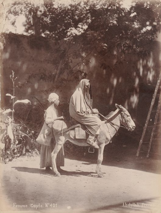 Abdullah brothers (act/ 1858-1899) - Coptic woman in the streets of Cairo, Egypt