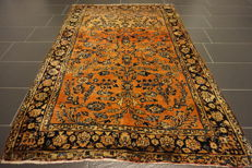 Valuable fine antique hand-knotted Art Nouveau Persian carpet American US Sarough Saruk Made in Iran 140 x 210 cm