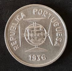 Portugal Republic - India - ½ Rupee 1936 - Silver