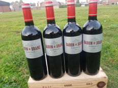 2014 Baron de Brane, 2nd wine Chateau Cantenac Brown - 4 bottles