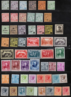 Monaco 1891/1949 - collection of stamps with airmail - Yvert between no. 11 and 385