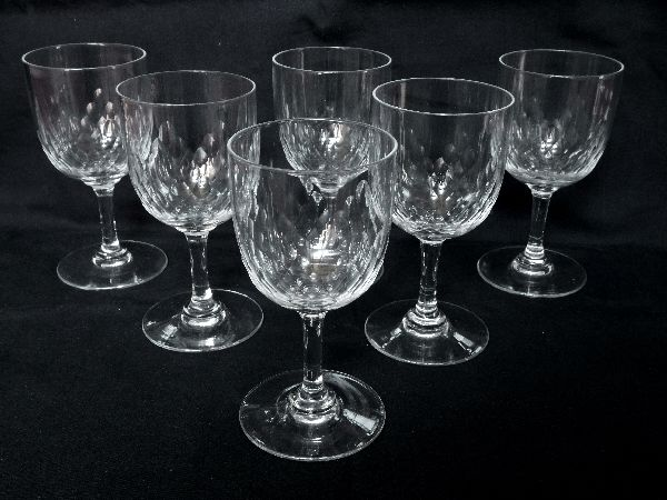 6 Baccarat Crystal White Wine Or Port Glasses Model Richelieu