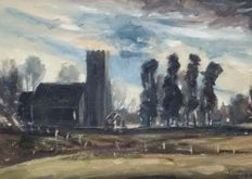 Michael Chapman (1933-) - Study of Buxton Lammas Church, Norfolk