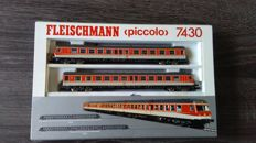 Fleischmann N - 7430 - 2-piece Diesel train set BR614 of the DB