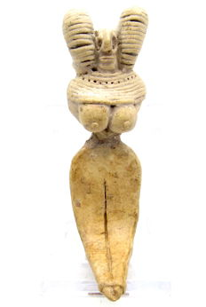 Indus Valley Terracotta Seated Female Fertility Idol  / Figurine  - 86 mm