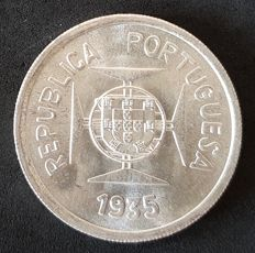 Portugal Republic - India - 1 Rupee 1935 - Silver