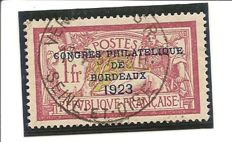 France 1923 - Yvert 182 with expert's certificate
