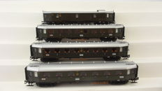 Märklin H0 - 42229 - 4-piece express train carriage set 'Special Hapag train'