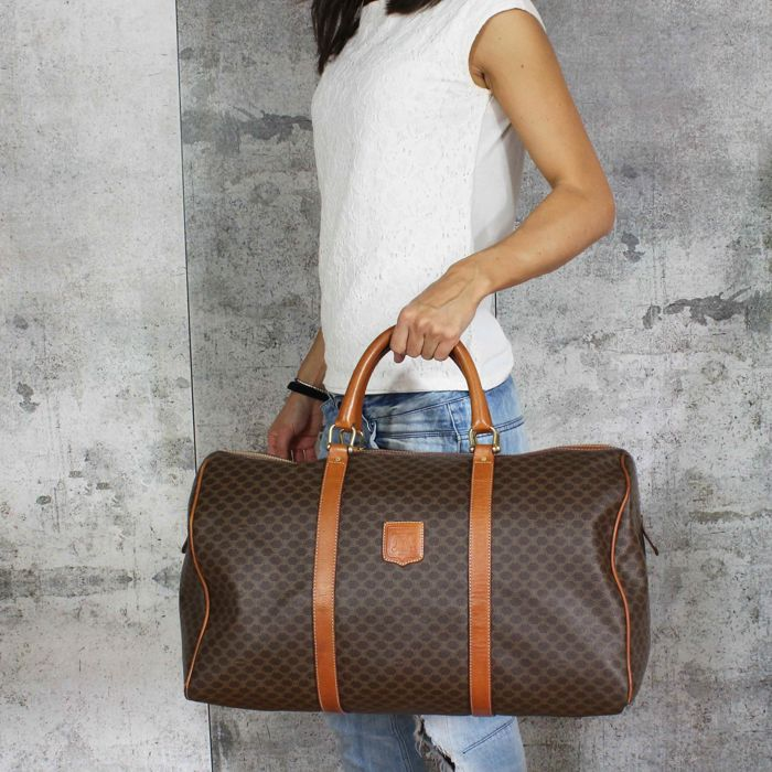 8036712ac1fe Celine - Macadam Boston 50 - Vintage travel bag for a weekend -  No ...