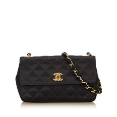 Chanel - Quilted Satin Chain Flap