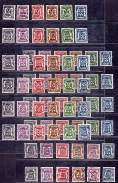 Belgium 1938 - 12 complete series of Preo stamps print type A - series 1 to 12