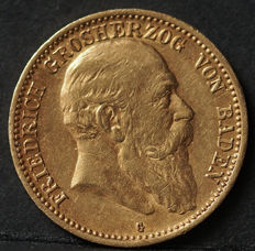 Germany, Baden - 10 marks 1905 G - gold