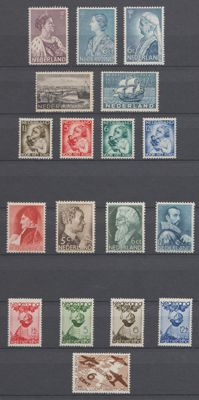 The Netherlands, 1934-1935 - selection between NVPH 265 and 282