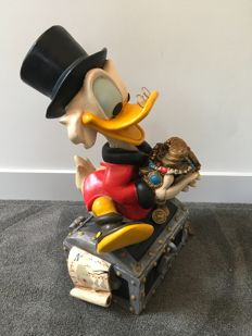Disney, Walt - Scrooge McDuck on treasure trove (ca. 1980s)