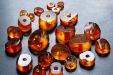 Collection of Antique Baltic Amber, 32.4gram